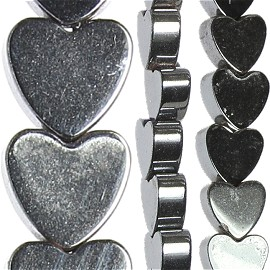 108pc 4x4x2mm Non-Magnetic Hematite Heart Spacer Black JF1671