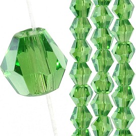145pc 3mm Bicone Crystal Bead Spacers Green JF1675