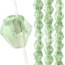 145pc 3mm Bicone Crystal Bead Spacers Light Green FJ1676