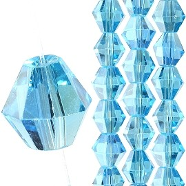 40pc 8mm Bicone Crystal Bead Spacers Sky Blue JF1707