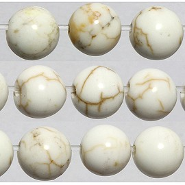 80pc 5.5mm Earth Stone Ball Bead Spacer White JF1766