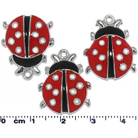 Parts 3pcs Black Red Lady Bugs JF1786