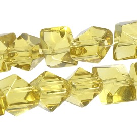40pcs Crystal 11x9x8mm Spacer 11x9x8mm Amber Color JF1799