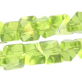 40pcs Crystal 11x9x8mm Spacer Apple Green JF1800