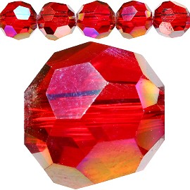 70pcs 8mm Spacers Round Crystal Beads Red AB JF183