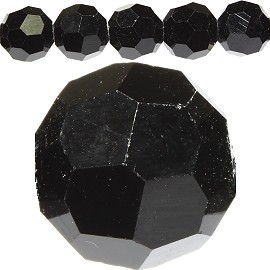 70pcs 8mm Spacers Round Crystal Beads Black JF187