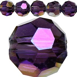 70pcs 8mm Spacers Round Crystal Beads Purple AB JF188