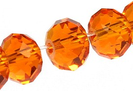 98Pcs 6mm Crystal Beads orange JF1906