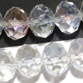 48Pc 18mm Crystal Beads Clear AB JF1913
