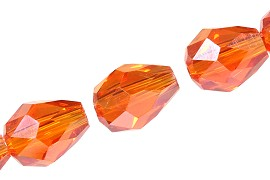 Cut Tear 6x8mm 70pcs orange JF1924
