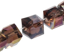 100pcs 5mm Cube Crystal Bead Purple Solid JF1955