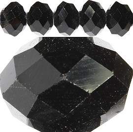 70pcs 12mm Spacers Crystal Beads Black JF198