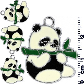 4pcs Panda Jewelry Parts White Black JF2020