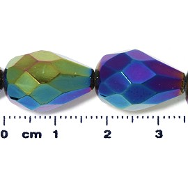 20pc 17x12mm Teardrop Crystal Spacer Bead AB Multi Color JF2048