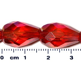 20pc 17x12mm Teardrop Crystal Spacer Bead Red JF2053