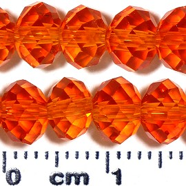 100pc 6x4mm Oval Crystal Glass Bead Orange JF2075