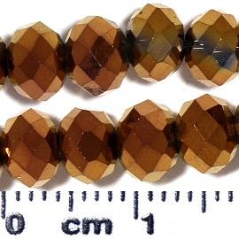 100pc 6x4mm Oval Crystal Glass Bead Copper JF2076