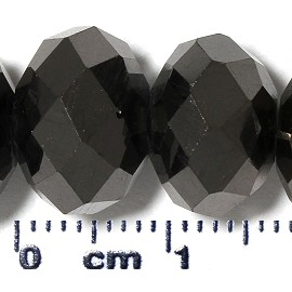 70pc 12mm Spacer Crystal Bead Graphite Shiny JF2084