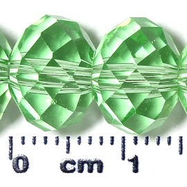 72pc 10mm Spacer Crystal Bead Light Green JF2085