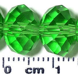 72pc 10mm Spacer Crystal Bead Green JF2086