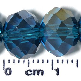 72pc 10x7mm Oval Crystal Glass Bead Blue AB Aurora Boreal JF2087