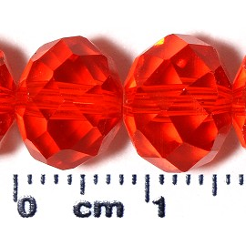 72pc 10mm Spacer Crystal Bead Red JF2090