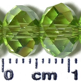 70pc 8mm Spacer Crystal Bead AB Light Green JF2107