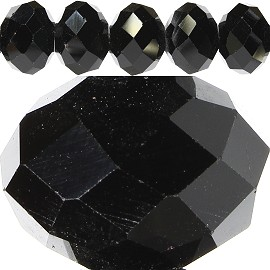 60pcs 14mm Spacers Crystal Beads Black JF211
