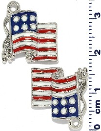 2pcs USA Flag Dangle Spacers Red White Blue JF2206