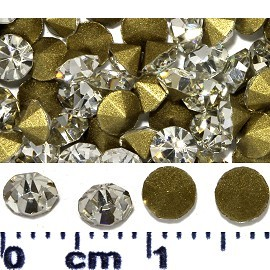 200pcs 4mm Wide Loose Rhinestones Clear Silver Gold JF2243
