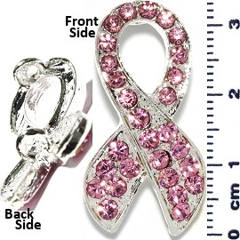 Rhinestone Spacer Ribbon 33mm Tall Light Pink JF227