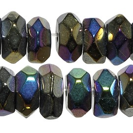 120pc 6mm Crystal Bead Spacer Dark Aurora Borealis JF2282