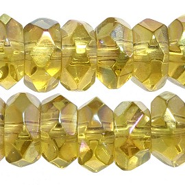 120pc 6mm Crystal Bead Spacer Gold Yellow Aurora Borealis JF2283