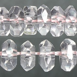 120pc 6mm Crystal Bead Spacer Light Pink JF2285