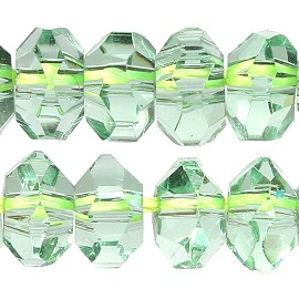 100pcs 5mm Crystal Bead Spacer Light Lime Green JF2286