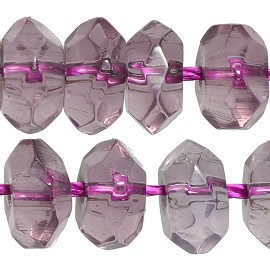 100pcs 6mm Crystal Bead Spacer Light Lavender Purple JF2287