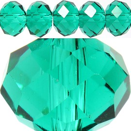 70pc 10mm Spacer Crystal Bead Teal JF231