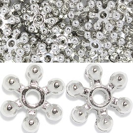 200pc 8mm 6star Spacer Silver JP135