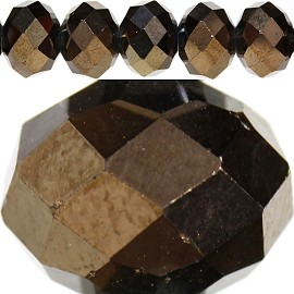 70pc 10mm Spacer Crystal Bead Solid Dark Brown JF237