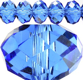 70pc 12mm Spacer Crystal Bead Light Blue JF240 - Click Image to Close