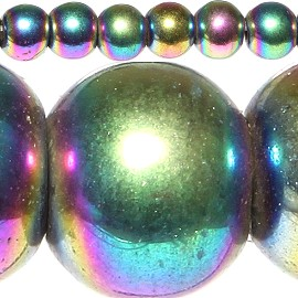 96pc 4mm Magnetic Beads Aura Borealis JF299