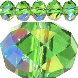 100pc 4mm Spacer Crystal Bead Apple Green Aura JF376