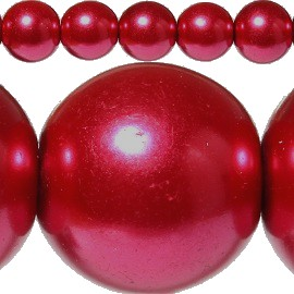 85pc 10mm Spacer Faux Pearl Maroon JF355