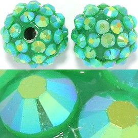 10pc 16mm W2mm/Hole Disc Bead Spacer Green Aura JF356