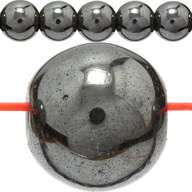 52pc 8mm Non-Magnetic Hematite JF393