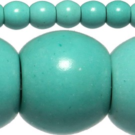 108pc 4mm Earth Stone Bead Spacer Turquoise JF408
