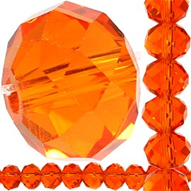 70pc 8x6mm Oval Spacer Crystal Bead Orange JF411