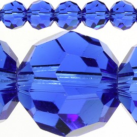 70pc 10mm Crystal Spacer Round Blue JF420