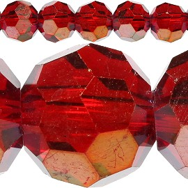 70pc 10mm Crystal Spacer Round Dark Red Aura JF425