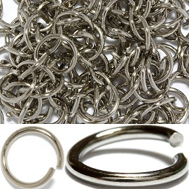 125pc 7x1mm Chain Parts Gray JF478